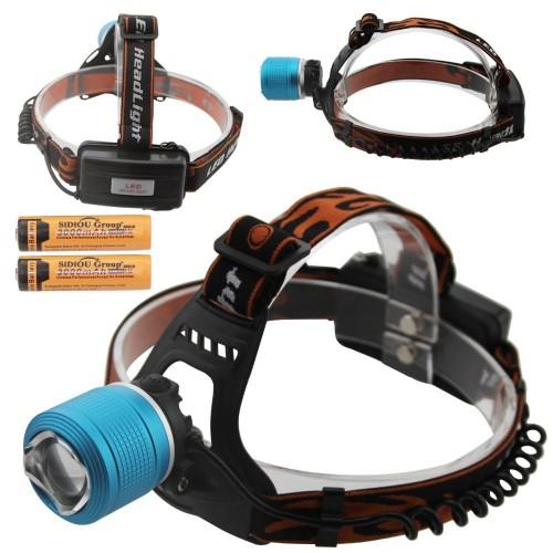 Мощен LED Челник - фенер за глава с акумулатор