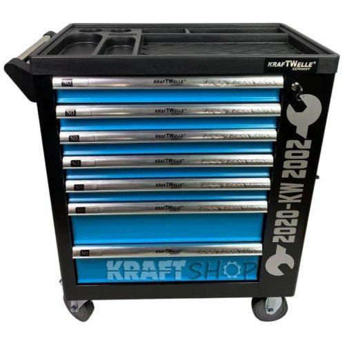 Немски Шкаф с инструменти KraftWorld със 7 чекмеджета - 6 пълни