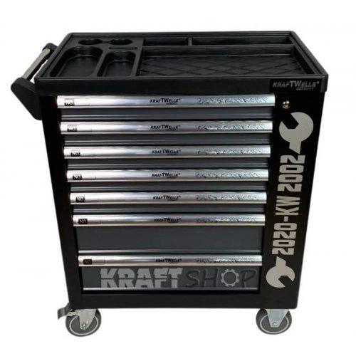 Немски Шкаф с инструменти KraftWorld със 7 чекмеджета - 6 пълни + шкаф за маска