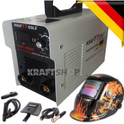 Инверторен Електрожен KrafT TOOLS 300А + Соларна маска