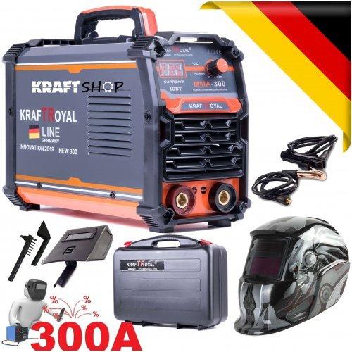 Инверторен Електрожен 300А Немски + Соларен шлем, с куфар Kraft RYOAL - Водоустойчив