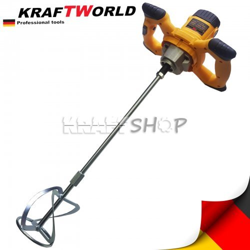 Миксер за бетон KraftWorld 2400W , строителна бъркалка , бетонобъркчка