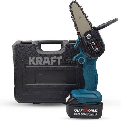 Мини  акумулаторна безчеткова резачка  KraftWorld - Трион на батерии 24V