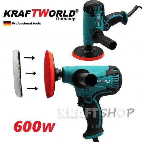 Полирмашина KraftWorld 600W, машина за полиране