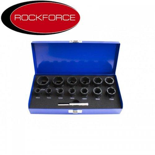 Вложки - екстрактори за отвиване на повредени болтове и гайки - заоблени RockForce