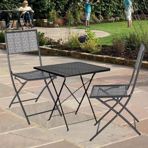Градинска комплект -сгъваема маса и два сгъваеми стола метални