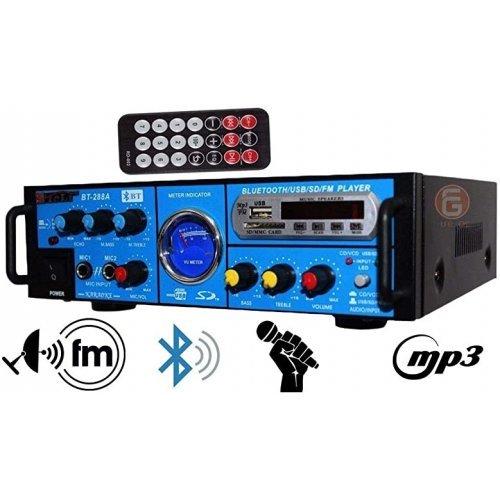 Усилвател за домашна употреба Teli BT-288A с Bluetooth и караоке