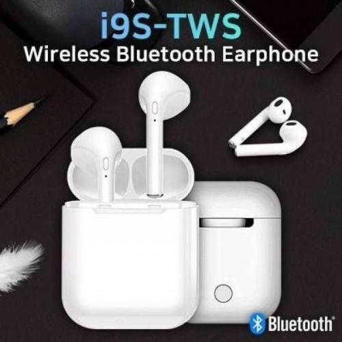 Безжични мини Bluetooth стерео слушалки HF i9S TWS – бели