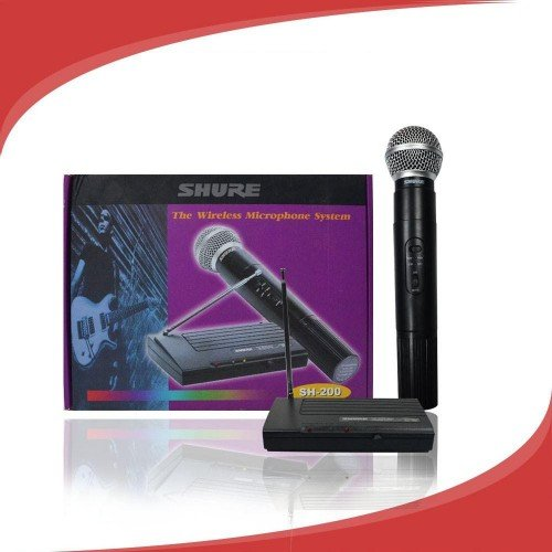 Професионален безжичен микрофон с приемник SHURE SH-200