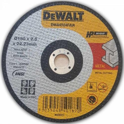 Абразивен диск за рязане метал DeWalt 180мм