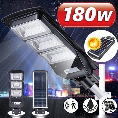 180W Външна Соларна LED лампа със сензор за двжение подходща за улична осветление
