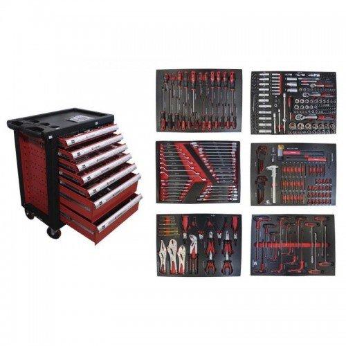 Шкаф с инструменти EVERFORCE със 7 чекмеджета - 6 пълни