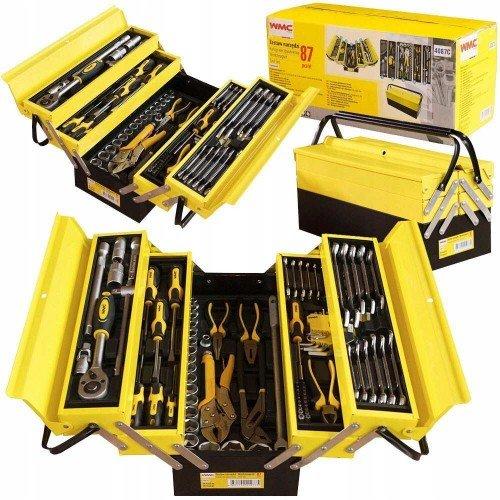 Комплект инструменти 87бр. WMC в метален куфар