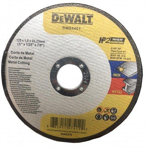 Абразивен диск за рязане метал DeWalt 125мм