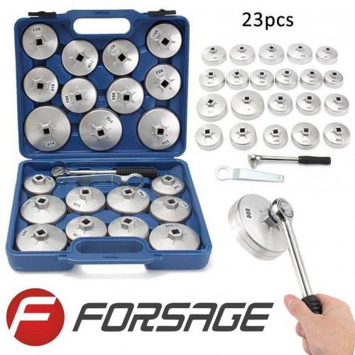 """Ключове за маслен филтър Forsage , универсални 1/2"""", 23 части к-т"""