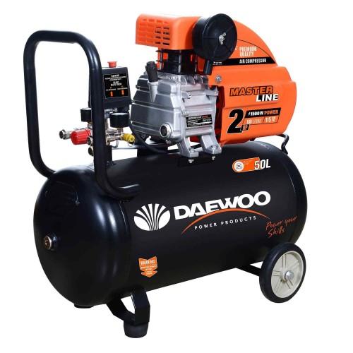 Електрически бутален компресор DAEWOO 1.5KW, 50l, 8 bar