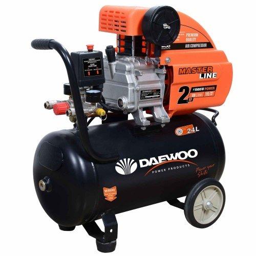 Електрически бутален компресор DAEWOO 1.5KW, 24l, 8 bar