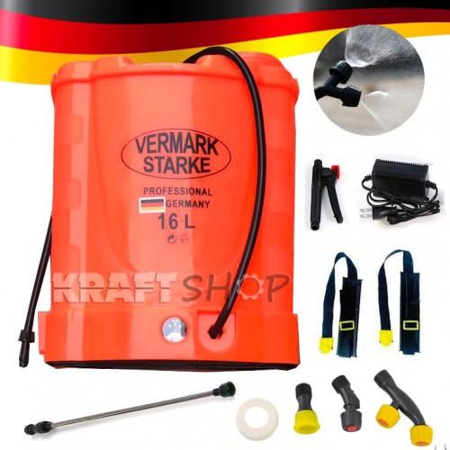 Акумулаторна / електрическа пръскачка Vermark Starke 16l Немска