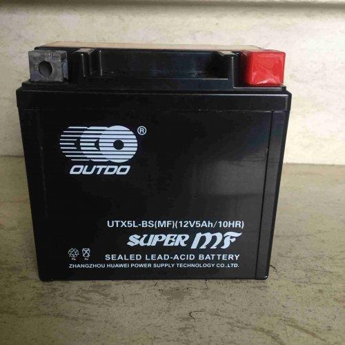 Мото акумулатор Outdo UTX5L-BS 12v 5ah. Гелов, Сух