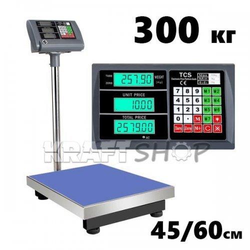 Платформен електронен кантар 300кг везна 45/60см