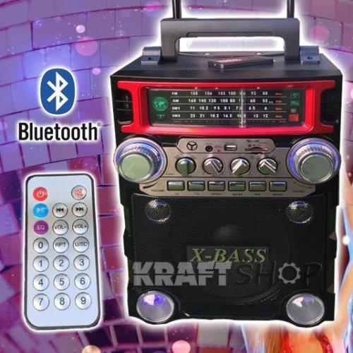 Караоке Тонколона Golon 2088 с акумулатор, цветомузика, Bluetooth, FM, USB и Микрофон