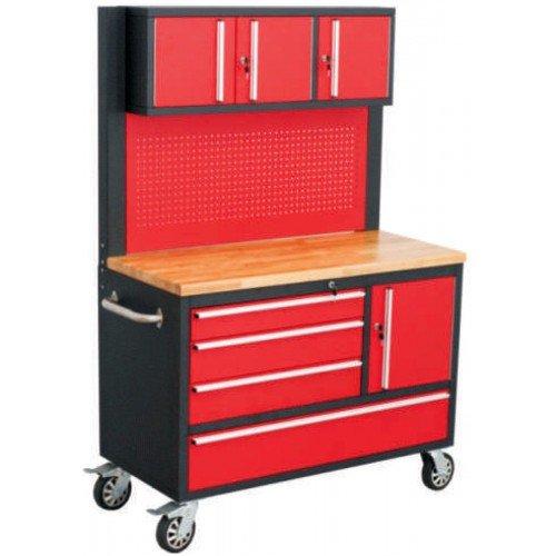 Продвижен Шкаф за инструменти Rock Force с 8 чекмеджета  и работен плот