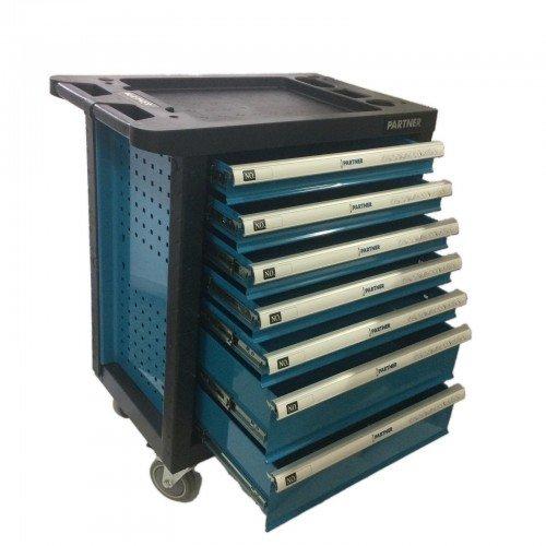 Шкаф метален за инструменти Partner с 7 чекмеджета - празни