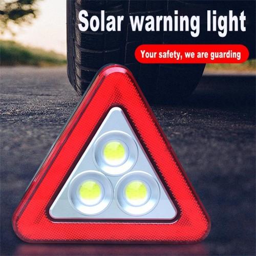 Авариен LED триъгълник 3 в 1 + соларно зареждане