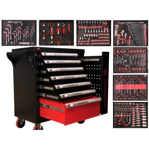 Шкаф с инструменти EVERFORCE със 7 чекмеджета и отделение за закачане на инструменти