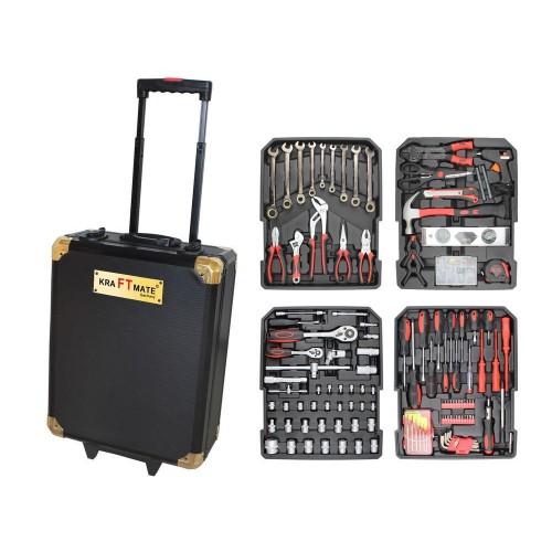 НЕМСКИ  Куфар с инструменти KRAFT MAX 256 части- тресчотка, вложки,ключове, отвертки и др ,
