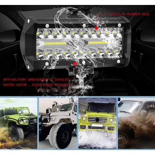 Автомобилен LED бар 120W - Мощен Прожектор за кола