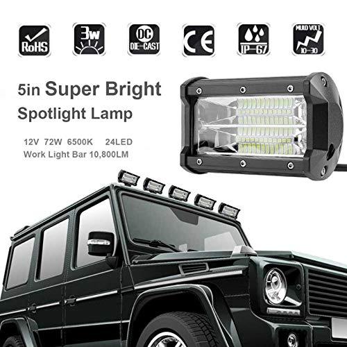 Мощен LED бар 72W Прожектор за кола