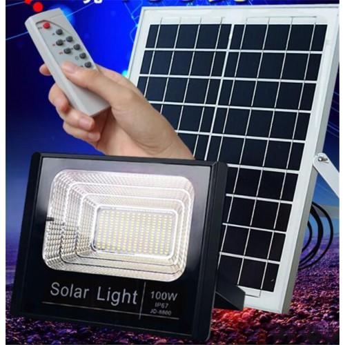 Соларна LED Лампа за външен монтаж + Соларен панел 20W / 40W / 60W / 100W + Дистанционно
