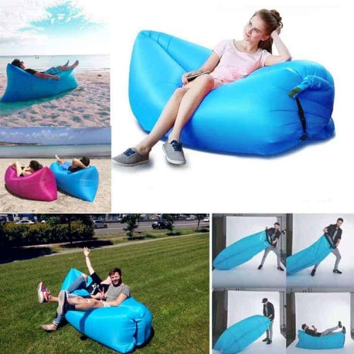 НАДУВАЕМ ПЪФ-ШЕЗЛОНГ ЗА РЕЛАКС И ПОЧИВКА Bubble lazy bed