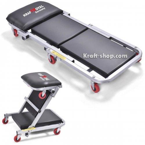 Немска Авто лежанка KrafTRoyal - сгъваема - работен стол за автосервиз