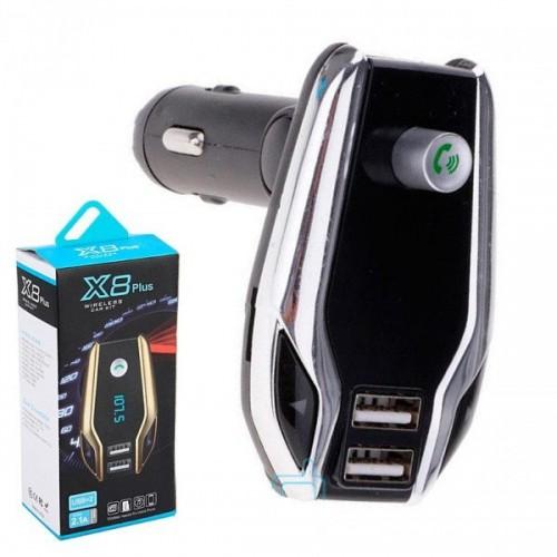 Мултифункционален X8 Plus Bluetooth трансмитер , USB зарядно , FM аудио предавател ,MP3 плейър, Handsfree