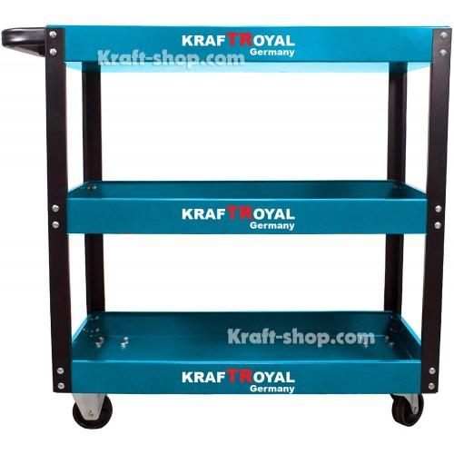 Количка за инструменти KrafTRoyal с 3 етажерки