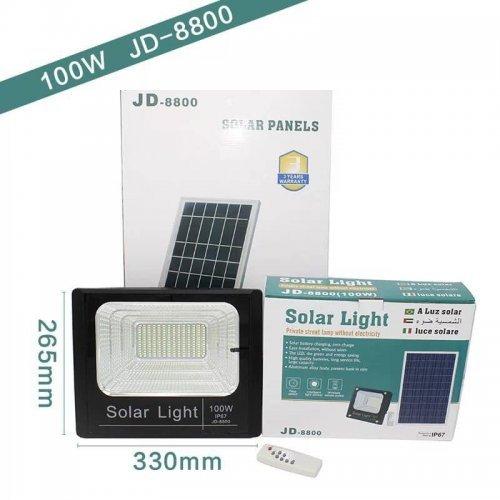 LED лампа със соларен панел 100W подходяща за улично осветление