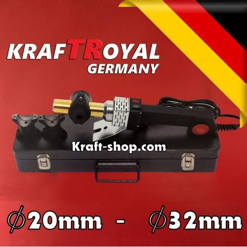 Немски Поялник за полипропилен 20-32мм 2500W Kraftroyal - лепачка за ппр тръби