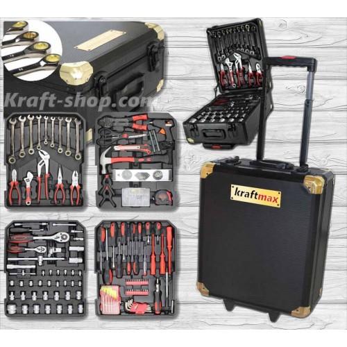 НЕМСКИ Куфар с инструменти 349 части Kraftmax - тресчотка, ключове, отвертки