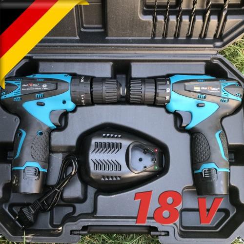 Комплект от акумулаторна бормашина и винтоверт 18V KraftRoyal