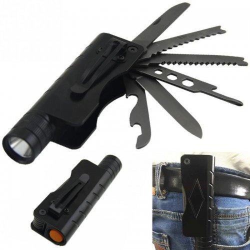 Мултифункционален LED фенер с нож, отварачка , отвертка и др.