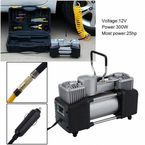 """Комплект """"Пътна помощ"""" - компресор за гуми с маркуч за въздух и инструменти"""