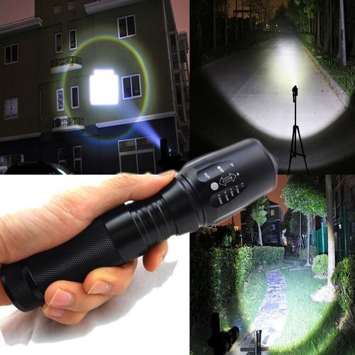 Мощен фенер POLICE T6 - 80 000 W със спусък за оръжие