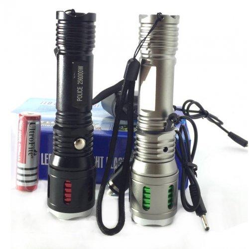 Мощен LED фенер с аумулатор и зарядно  Cree 250000W
