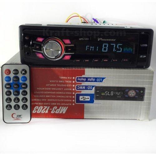 Аудио плеър за кола 1203 с падащ панел USB SD AUX