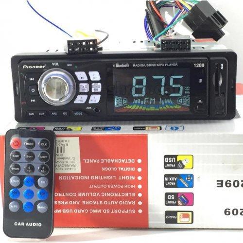 Аудио плеър за кола 1209е с Bluetooth и падащ панел USB SD AUX