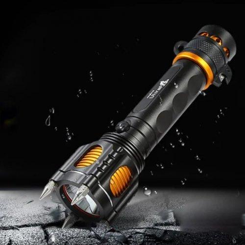 Мощен фенер T6 със сирена POLICE 100000W - 1000 лумена
