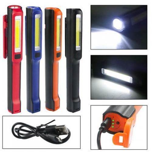 Акумулаторна LED лампа  3W COB + 1W LED