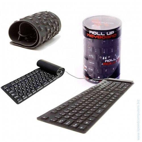 Водоустойчива силиконова клавиатура - с USB